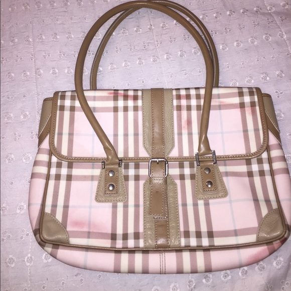 abde29c56b8f Burberry Handbags - Authentic Burberry Pink Plaid Purse