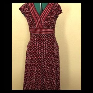 Maggy London Pink and Black Geometric Dress