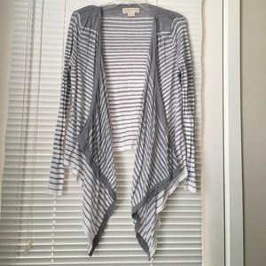 MICHAEL Michael Kors Draped Open-Front Sweater M