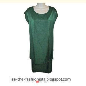 Mono B Dresses & Skirts - 🌞NWT MONO B Emerald Green Hi-Lo Dress SZ L