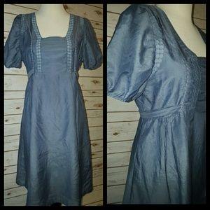 Numph Dresses & Skirts - GORGEOUS Silk/Cotton Blend Danish Dress