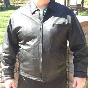 Yes Other - Men's black leather jacket