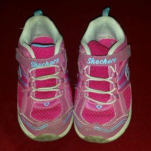 Skechers Other - OFFERS! Girls Pink Skechers S-Lights Sz 10