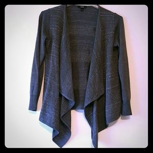 AGB Tops - Grey with silver threading top