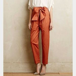 Anthropologie Pants - FINAL cartonnier anthro bow tie paperbag trouser