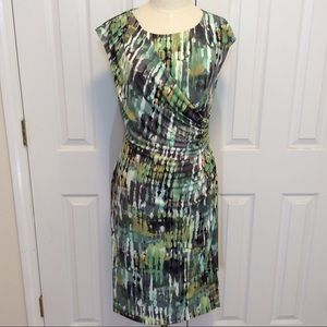 Connected apparel Dresses & Skirts - Connected apparel shades of green dress