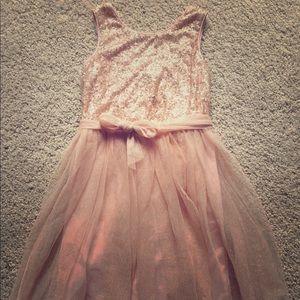 Zunie Other - Girls blush pink party dress