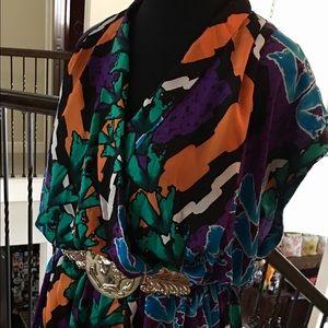 Fabulous fluid multi media dress by Peter Nygard!