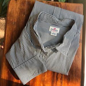J. Crew Black Stripe Perfect Shirt (L)