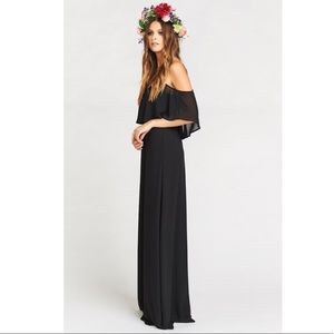 Show Me Your MuMu Dresses & Skirts - NWT show me your mumu Caitlin ruffle maxi black