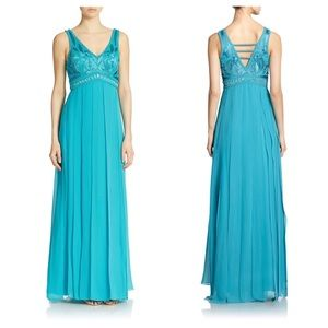 High Design Embellished Empire Long Dress RP$549