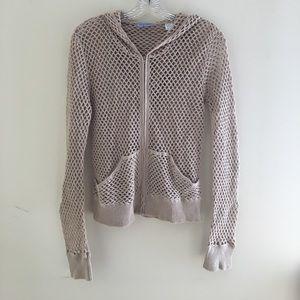 Acrobat Sweaters - Acrobat crochet hoodie zip up!