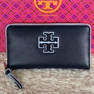 Tory Burch Handbags - NEW TORY BURCH STACKED-T COLOR BLOCK ZIP WALLET