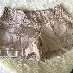 Op Pants - Beige Stretchy shorts