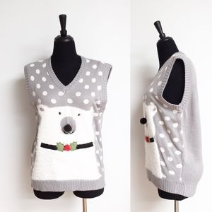 Sweaters - ⭐️NWOT⭐️ Polar Bear Christmas Sweater Vest