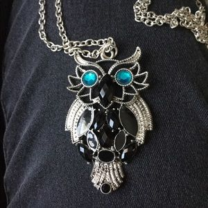 Jewelry - Silver & turquoise Owl Necklace