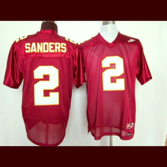 sports shoes 131be 8200c authentic deion sanders florida state jersey
