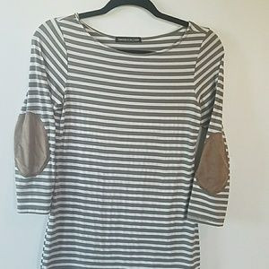 Half sleeve striped t shirt