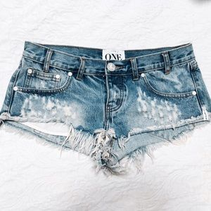 One Teaspoon Trash Whores Denim Shorts 26