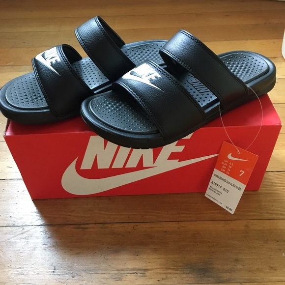 low priced 5c75f 554b0 ... usa nike benassi duo ultra slide black womens size 7 80328 b651a