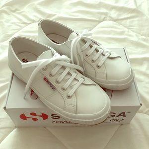Superga White Leather Sneaker