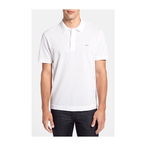 fdb510abbf80e Lacoste Other - Lacoste men s white pique polo shirt regular fit