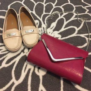 Handbags - Raspberry Envelope Clutch & Crossbody