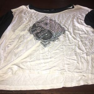 Tilly's Tops - Yin Yang Crop Top