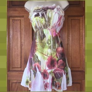 Strapless dress Sz L mini