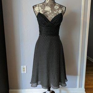 Shoshanna Dresses & Skirts - Shoshanna polka dot spaghetti strap dress.
