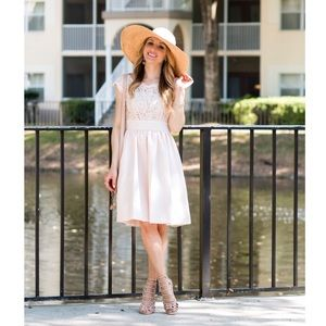 Eliza J Dresses & Skirts - Eliza J Pink Lace & Faille Dress
