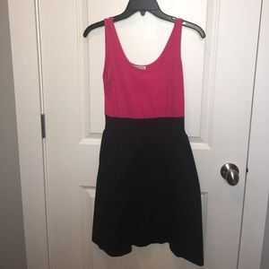 Velvet Torch Dresses & Skirts - Pink and Black Fit and Flare Dress