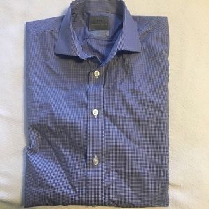 Thomas Dean Other - Blue check Button Down Shirt.
