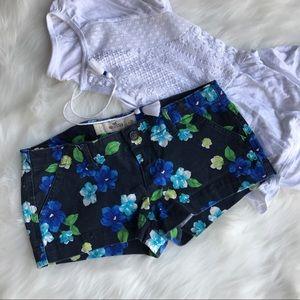 Hollister Jeans Floral Shorts