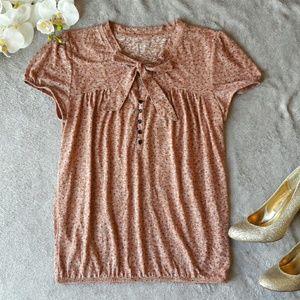 LOFT Tops - Ann Taylor LOFT pink polka dot blouse top