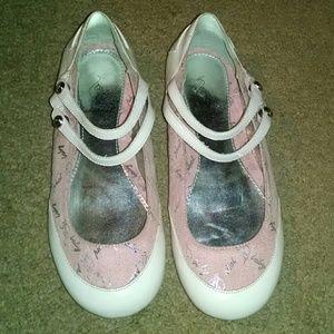 Baby Phat girls pink logo dressy shoes size 2