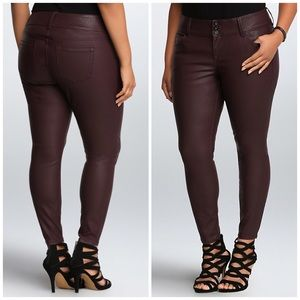 torrid Pants - Torrid Premium Faux Leather Jegging - Oxford