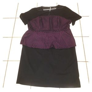 Eloquii Eyelet Peplum Dress size 26