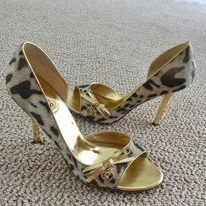Leopard & Gold Open Side Pumps