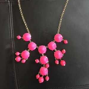 J.Crew Pink Bubble Necklace