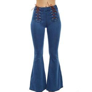 SALE🌹Somedays Lovin Lace Up Flare Jeans