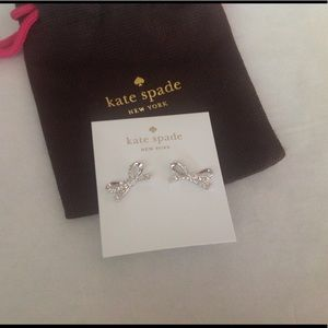 kate spade Jewelry - WKND SALE 🎉Kate Spade Silver Bow Earrings