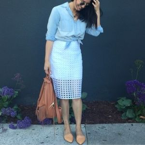 Banana Republic Dresses & Skirts - Banana Republic white eyelet pencil skirt