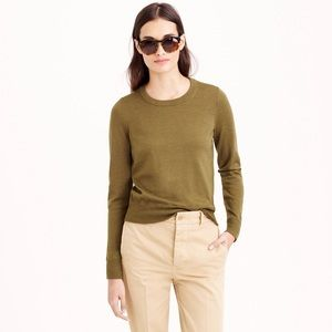 NEW J. Crew Merino Wool Tippi Sweater Olive