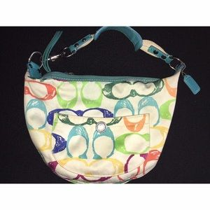 Coach Multi Color Scribble Small Hobo Purse