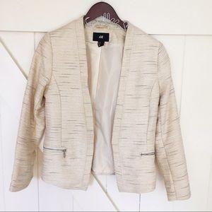 H&M Tweed Metallic Blazer Size 10