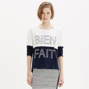 Madewell Bien Fait Pullover sweatshirt