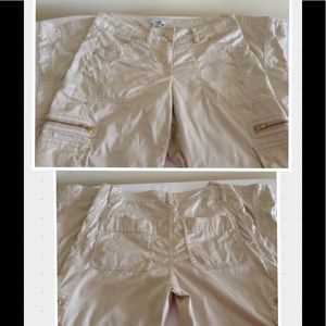 Cache Pants - Cache Light  Beige Cropped Charge Size 0