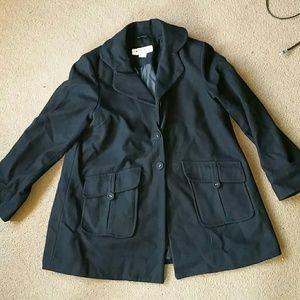 Hydraulic Jackets & Blazers - Hydraulic size XL black wool pea coat