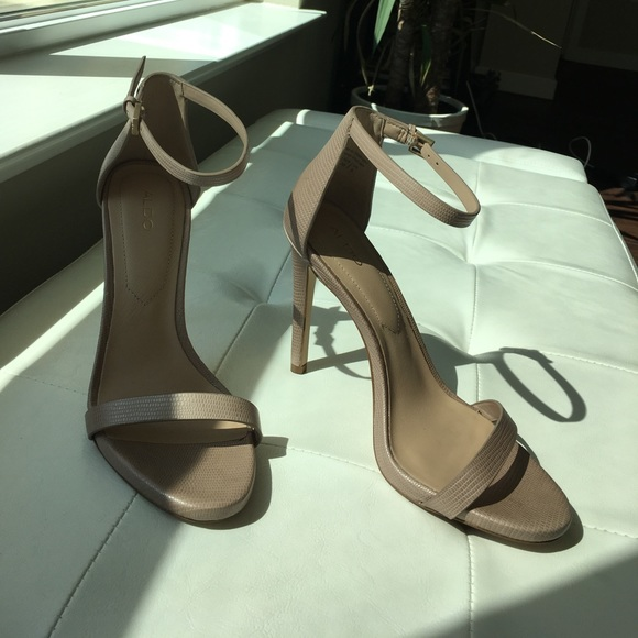 3bdf4fb39c368 Aldo Shoes | Caraa Nude Sandals In 75 Used Once | Poshmark
